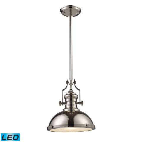 Chadwick 1-Light Pendant In Polished Nickel - LED Offering Up To 800 Lumens (60 Watt Equivalent) …