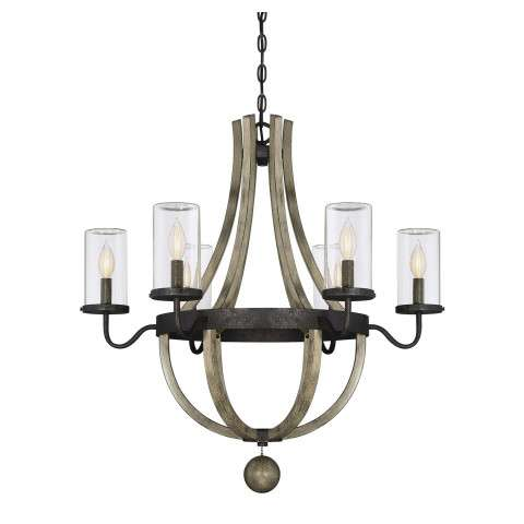 Eden 6 Light Outdoor Chandelier in Weathervane