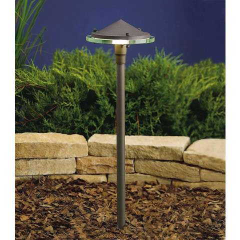 Kichler 15317AZT Path & Spread 1-Lt 12V in Textured Architectural Bronze.
