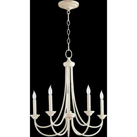 Brooks 5 Light Candle Chandelier in Persian White