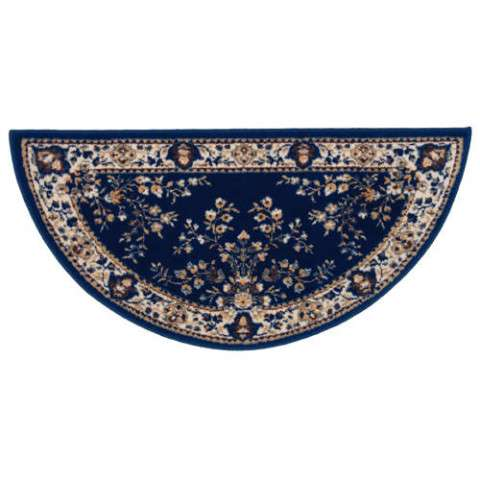 Oriental Hearth Rug - Half Round - Blue