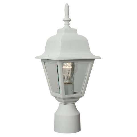Craftmade Exteriors Coach Lights - Matte White Small Post Mount in Matte White