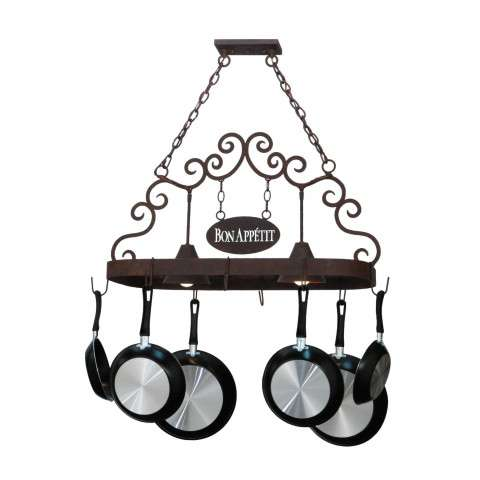 "32"" L Bon Appetit 2 Lt Pot Rack. Custom Crafted In Yorkville - New York Please Allow 30 Days"