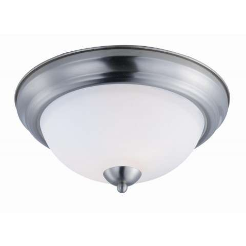 Taylor 2-Light Flush Mount in Satin Nickel