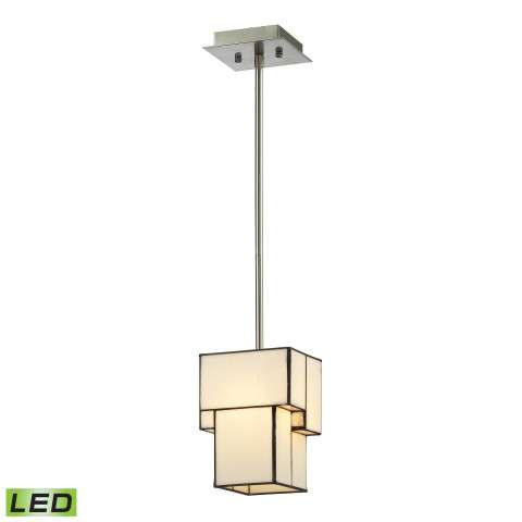 Cubist Collection 1 light mini pendant in Brushed Nickel - LED Offering Up To 800 Lumens (60 Watt…