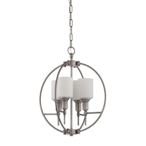 Jeremiah Indoor Lighting 4 Light Entry In Antique Nickel