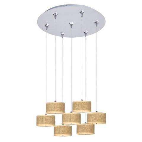 ET2 Contemporary Lighting E95500-101SN Elements 7-light Multi-Light Pendant in Satin Nickel finish