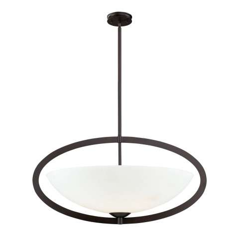 Elk Lighting 10228/6 6- Light Pendant In Aged Bronze