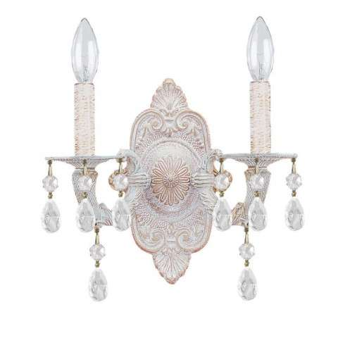 Sutton 2 Light Elements Crystal White Sconce