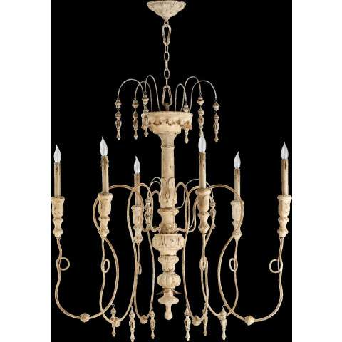 "Salento 40"" /6 Light Chandelier in Persian White"
