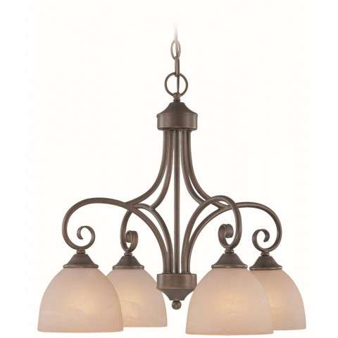 Craftmade Exteriors Raleigh - Old Bronze 4 Light Chandelier in Old Bronze