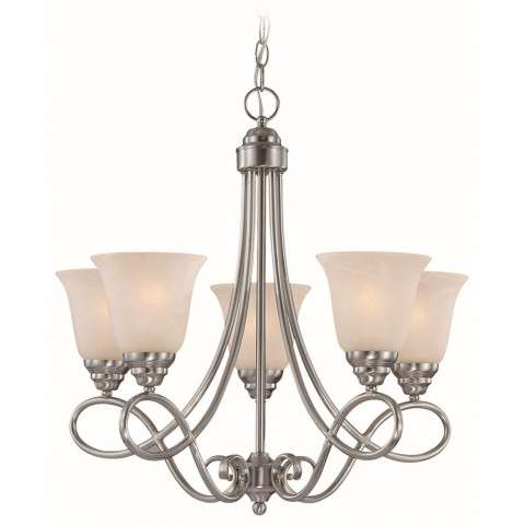Craftmade Exteriors Cordova - Satin Nickel 5 Light Chandelier in Satin Nickel