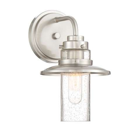 Dover 1 Light Wall Sconce In Satin Platinum
