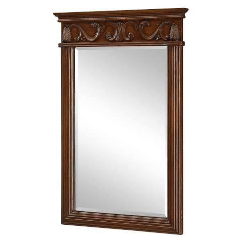 "Vanity Mirror 25"" x 36"" Brown"