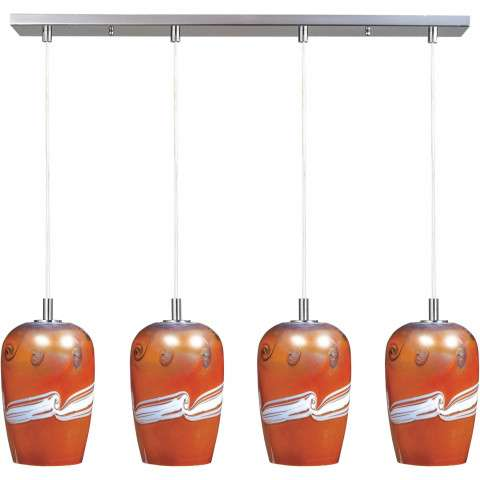 Carte LED 4-Light Pendant in Satin Nickel