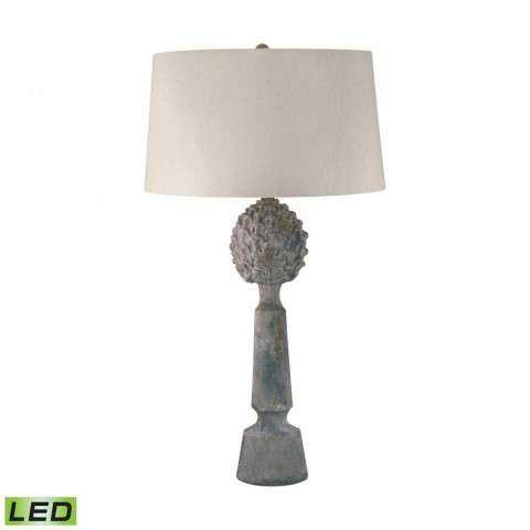 Earthenware Pineapple Top Ceramic LED Table Lamp In Matte