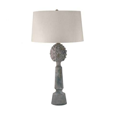 Earthenware Pineapple Top Ceramic Table Lamp In Matte