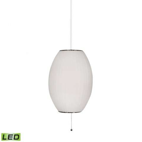 Cigar LED Pendant In White In White