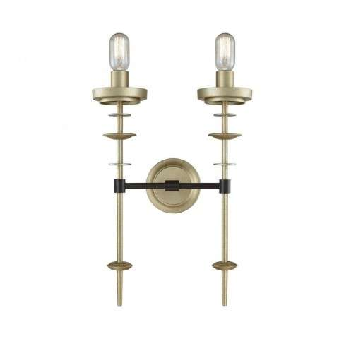 Orion Two Light Sconce In Antique Gold Leaf