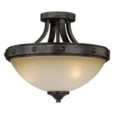 Halifax 2L Semi-Flush Mount Black Walnut