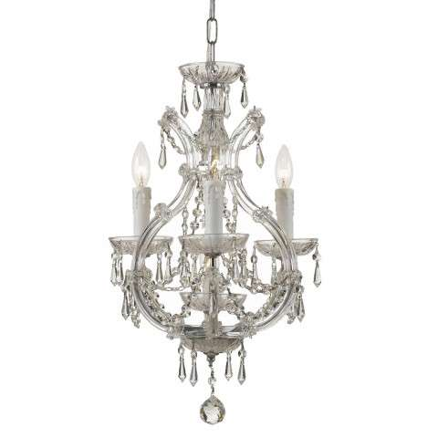 Crystorama 4473-CH-CL-I Maria Theresa Dual Mount Draped in Italian Crystal. Semi Flush or Mini Chandelier application.