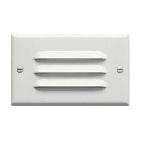 Kichler 12600WH LED Step Light Horiz. Louver in White.