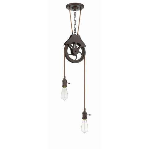 Design-A-Fixture - 2 Light Pendant - Aged Bronze Brushed