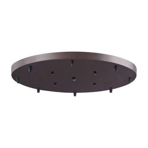 8 Light Round Pan In Oil Rubbed Bronze