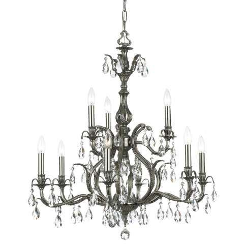 Crystorama 5569-PW-CL-MWP Clear Hand Cut Crystal Chandelier