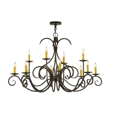 "48"" W Cypress 12 Lt Chandelier. Custom Crafted In Yorkville - New York Please Allow 30 Days"