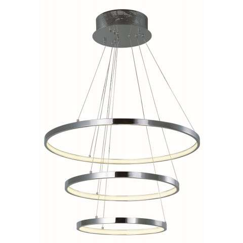 Hoops LED Pendant in Polished Chrome