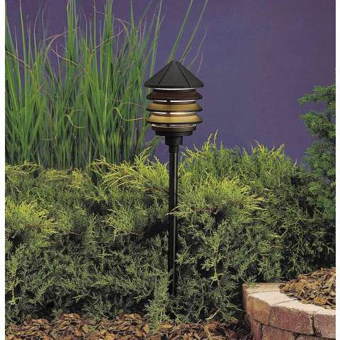 Kichler 15205BKT Path & Spread 1-Lt 120V in Textured Black.