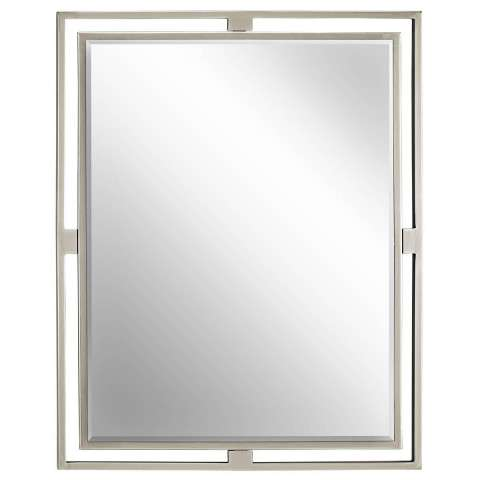 Kichler 41071NI Mirror in Brushed Nickel.