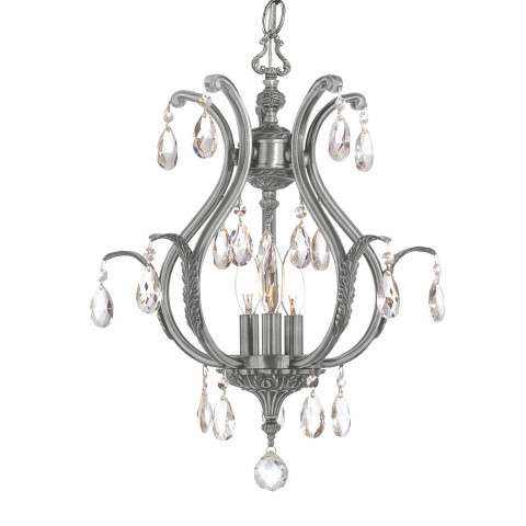 Crystorama 5560-PW-CL-MWP Clear Hand Cut Crystal Chandelier