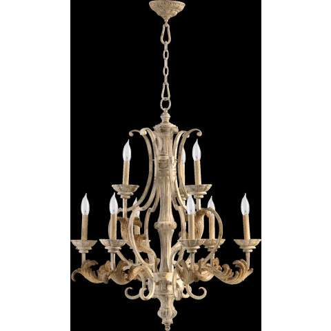 Florence 9 Light Chandelier in Persian White