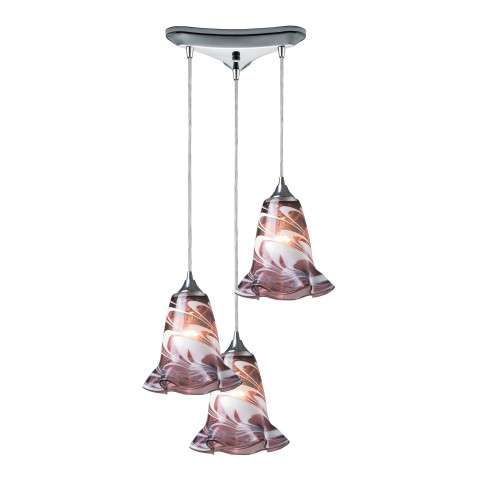 Vestido 3 Light Pendant In Polished Chrome