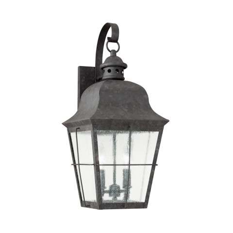Chatham - Two Light Outdoor Wall Lantern in Oxidized Bronze