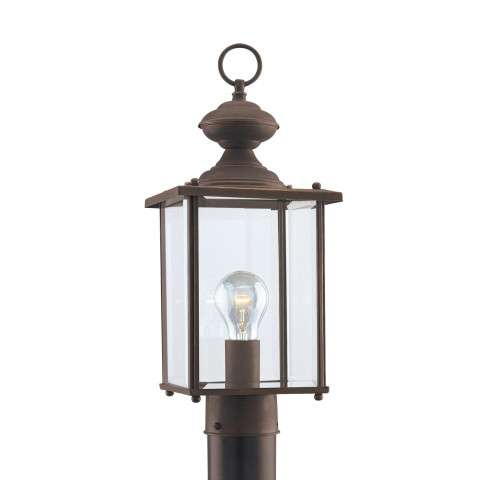 Seagull Lighting 8257-71 Single-Light Jamestowne Post Lantern in Antique Bronze finish