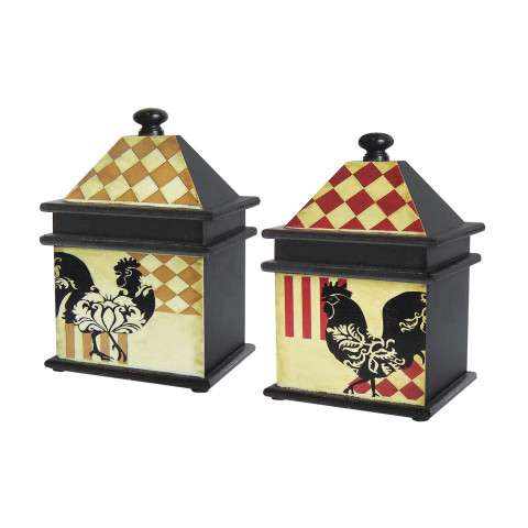IMAP Set/2 Harlequin Rooster Boxes