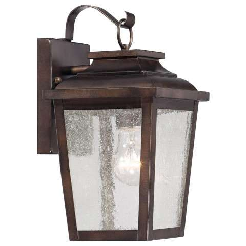 The Great Outdoors 1 Light Wall Mount In Chelesa Bronze™ Finish W/Clear Seeded Glass