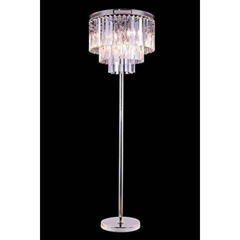 "1201 Sydney Collection Floor Lamp D:20"" H:63"" Lt:8 Polished nickel Finish (Royal Cut  Crystals)"