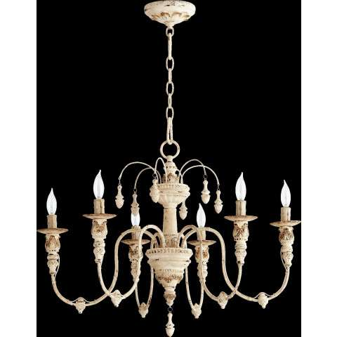 "Salento 25"" /6 Light Chandelier in Persian White"