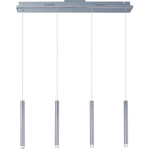 ET2 Contemporary Lighting E22274-75PC Picolo 4-light Linear Pendant in Polished Chrome finish with Clear Acrylic glass