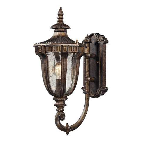 Sturgess Castle 1 Light Outdoor Sconce In Regal Bronze