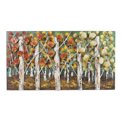 Wall Art - Autumn Birch-Autumn Birch Metal Wall Décor - Metal