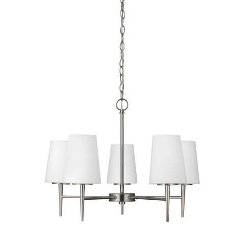 Driscoll - Five Light Chandelier in Brushed Nickel