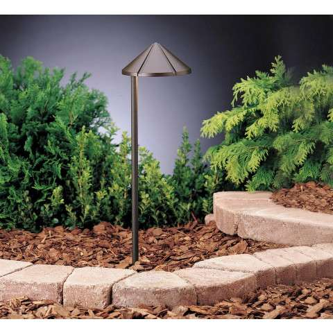 Kichler 15315AZT Path & Spread 1-Lt 12V in Textured Architectural Bronze.
