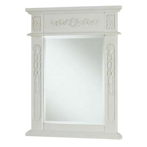 "Vanity Mirror 22"" x 28"" Antique White"