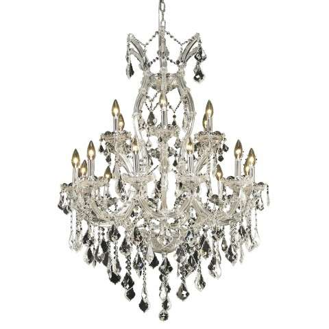 2800 Maria Theresa Collection Hanging Fixture D32in H42in Lt:18+1 Chrome Finish (Elegant Cut Crystal)