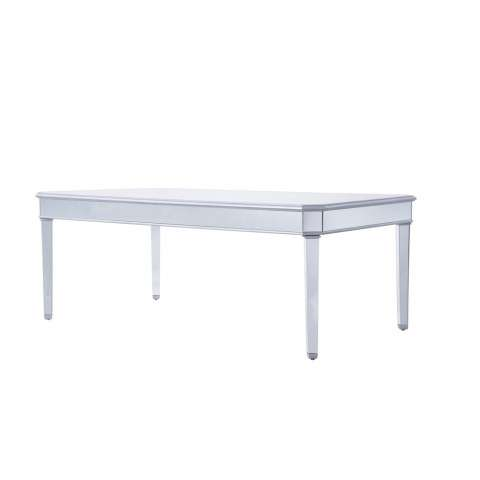 Dinning table 80 in. x 44 in. x 30 in. in Silver paint